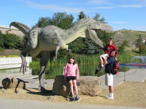 Outside the Royal Tyrrell