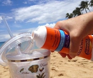 Sunscreen flask, very creative