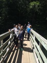 Footbridge to a hiking trail