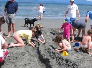 Mega Sandcastle buiding