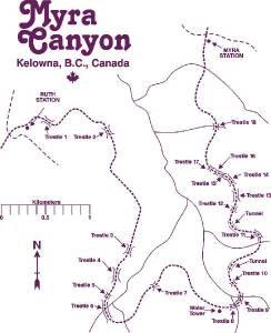 Myra Canyon Society map