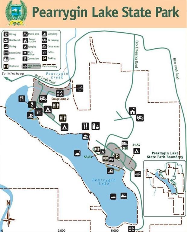 Camping Washington State Map.Pearrygin Lake State Park Winthrop Washington Camp That Site