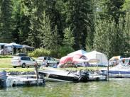 Tent site area