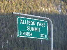 Allison Pass Sign